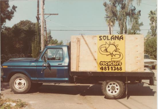 1st Solana Recylers truck (Feb 1984)
