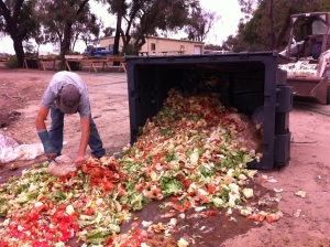 Solana Ctr - Waste Reduction - Preparing to work in load from fast food